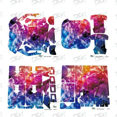 PGY Colorful diamond Skin for DJI inspire1 FPV Quadcopter drone RC Parts accessories waterproof UV decals stickers set Newly Hot