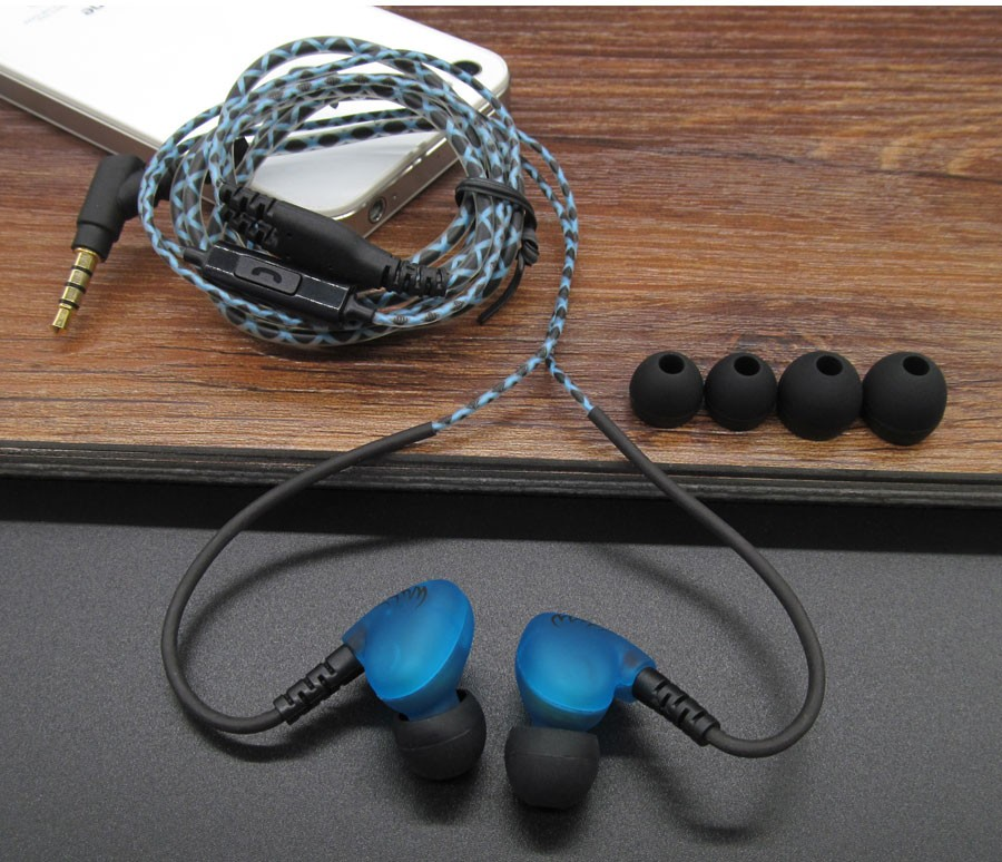 Sport Earphones Waterproof Sweatproof Headphones With Mic Ear Hook for Running Sports Stereo Bass Music Headset For Mobile phone