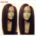 Stock Very Soft Long yaki Straight U part Wig Virgin Brazilian Hair U Part Wigs With