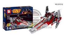 211pcs STAR WARS V-Wing Starfighter RED ASTROMECH DROID Space Ship Clone War Minifigures Building Blocks Compatible with LEGO