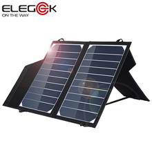 ELEGEEK Portable 10W Solar Panel Charger with Stand SUNPOWER Solar Panel 5V Battery Charger for 5V Mobile Power Bank Device(China (Mainland))