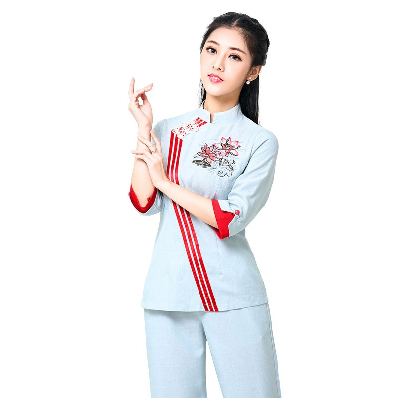 Popular spa uniform design buy cheap spa uniform design for Spa uniform indonesia