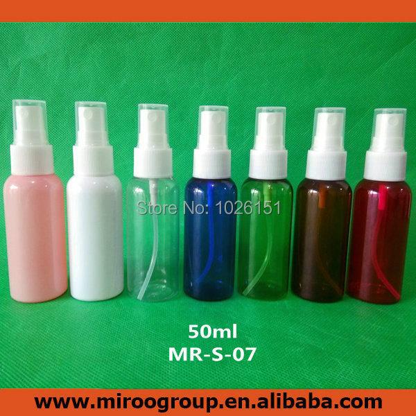 Free Ship 10pcs/lot 50ml PET plastic spray bottle, empty perfume spray bottles, fine mist spray bottles with 20/410 sprayer pump(China (Mainland))