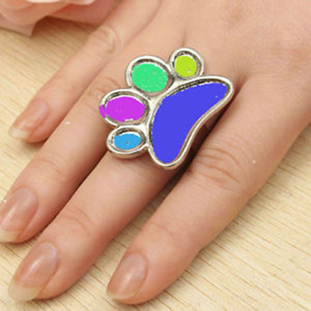 Cute Mini Nail Art Finger Ring Palette Manicure Mixing Acrylic Paint Thumb Ring