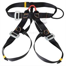 New Arrivals 2015 Outdoor Rappelling Climbing Harness Seat Safety Sitting Bust Belt Black Free Shipping(China (Mainland))