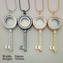 10pcs/lot mix color openable memory magnet glass floating living charm locket key pendant necklace(China (Mainland))