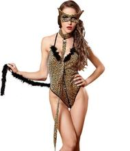 halloween costumes high quality leopard girls sexy cosplay clothing sexy temptations uniforms wholesale drop shipping - High Quality Womens Halloween Costumes