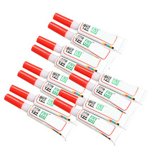 12PCS Adhesive Strong Rapid Bond Cure 502 Tube Super Glue for Plastic Wood(China (Mainland))