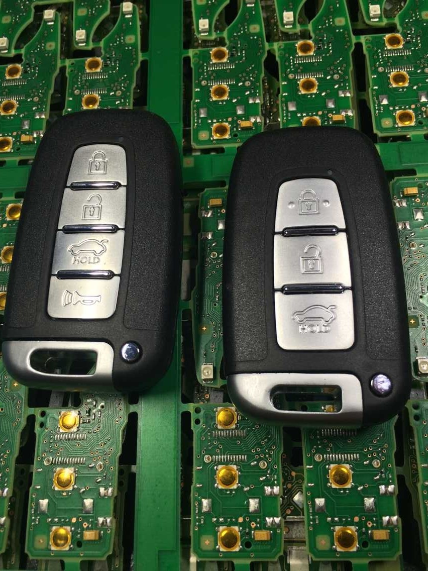 4 buttons car smart remote key 433Mhz ID46 chip kia hyundai solaris sonata santa fe ix35 - Tomtop Save Shop store