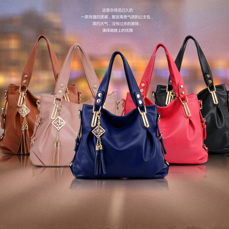 2015 spring new female European fashion the perfect neutral shoulder bag middle-aged lady hand-held diagonal kit bag(China (Mainland))