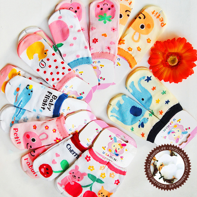 100% cotton cartoon pattern baby socks baby socks straight socks children socks ww26
