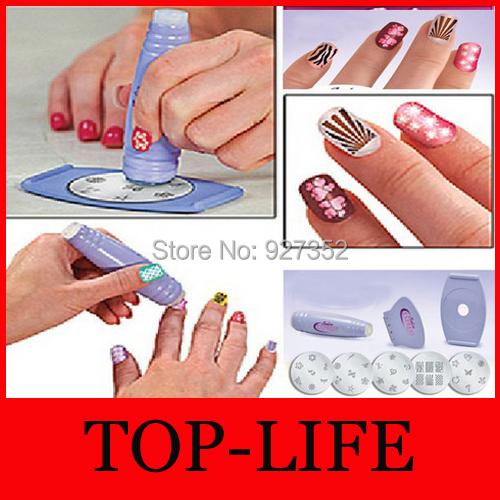 Salon Nail Art Express Decals Stamp Stamping Polish Design Kit Set Decoration - Top-life Store store