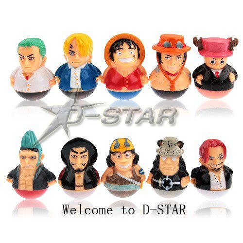 Free Shipping Popular Funny One Piece Tumbler Figure (10pcs per set)