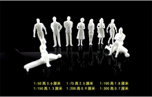 1:50 scale 3.6cm ABS plastic white figure for architectural model making train layout