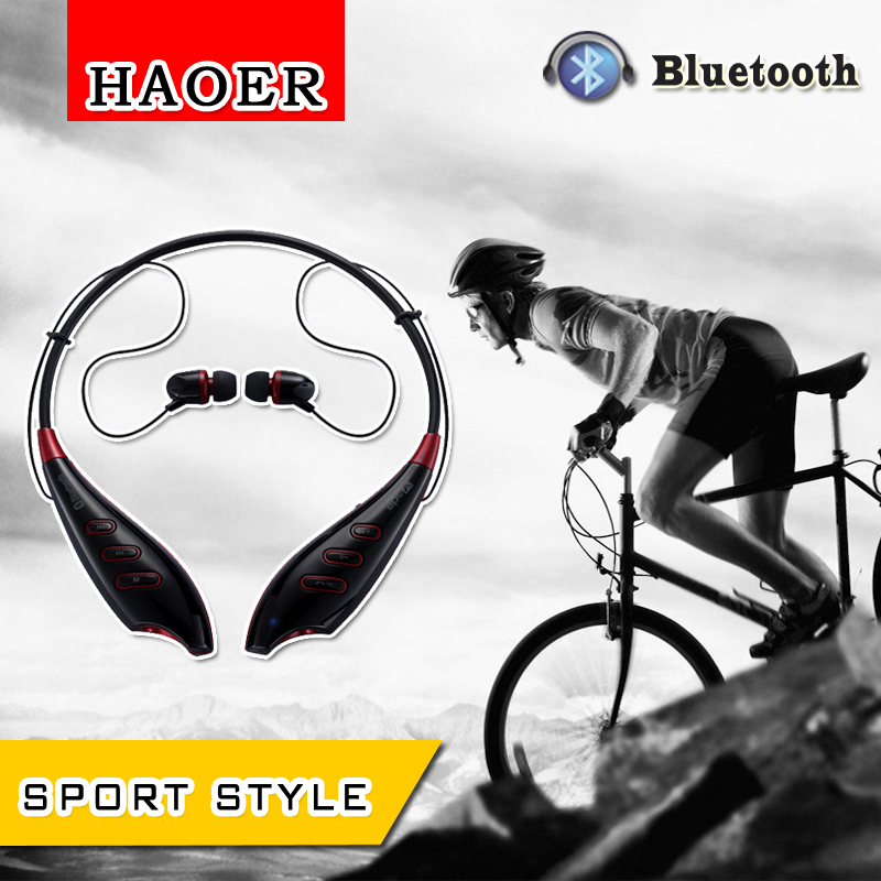 Haoer S740T Bluetooth Neckband Sport In-ear Stereo Earbuds with Mic - BLACK(China (Mainland))