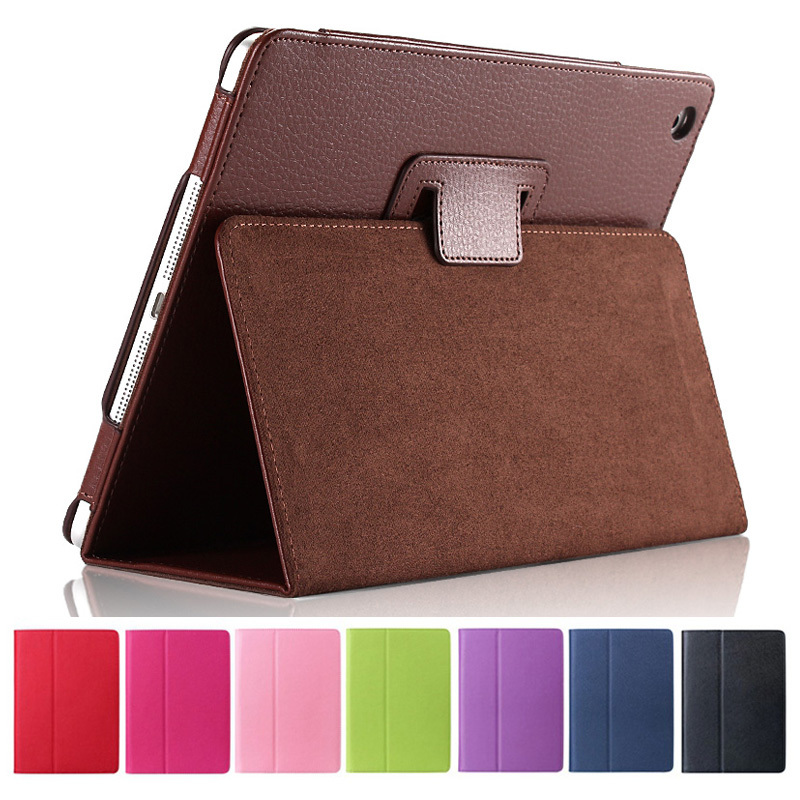 For Apple ipad 2 3 4 Magnetic Auto Wake Up Sleep Flip Litchi Leather Case For new ipad 3 ipad 4 Cover with Smart Stand Holder(China (Mainland))