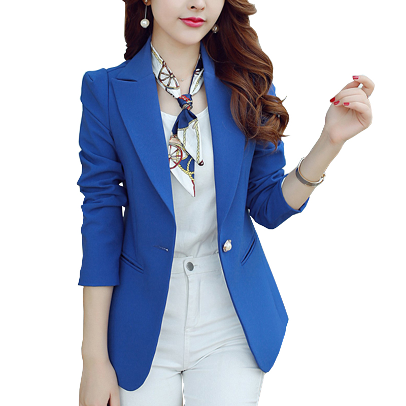 New Long Sleeved Slim Women Blazers And Jackets Small Suit Korean Version Slim (Green Blue Black) Solid Blazer Femme Nw101(China (Mainland))