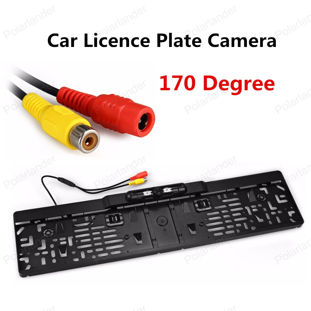 [High Quality] Night Vision Waterproof European 170 Degree Viewing Angle Car License Plate Frame Reversing Camera(China (Mainland))