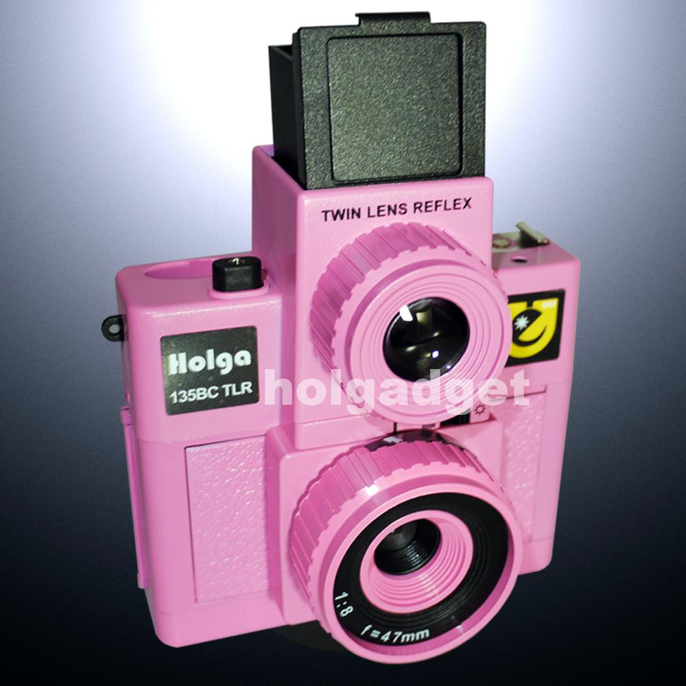 Holga 135BC TLR Twin Lens Reflex 35mm Film Lomo Camera - Pink(Hong Kong)