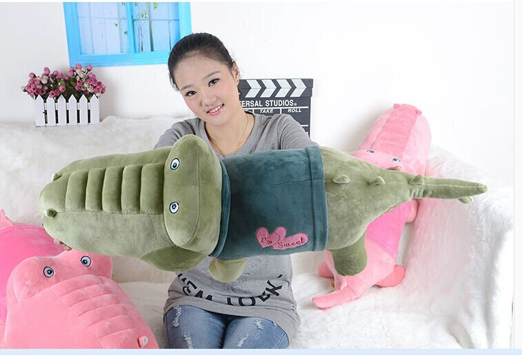 middle lovely plush army green crocodile toy stuffed crocodile doll pillow birthday gift about 100cm<br><br>Aliexpress