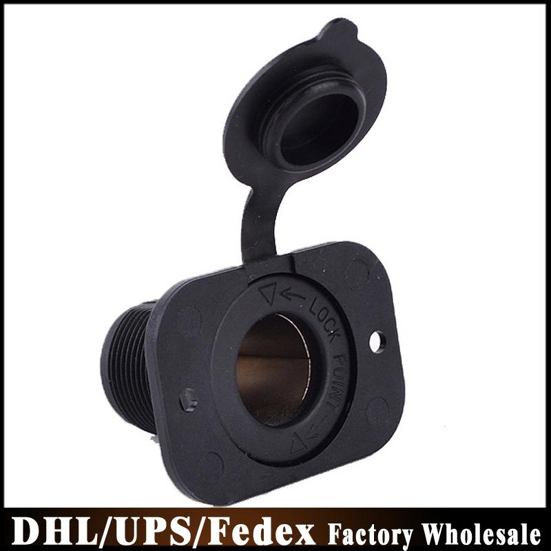 DHL Fedex UPS 500pcs/lot New Universal Waterproof 12V 24V Motorcycle Car Boat Tractor Cigarette Lighter Power Socket Plug(China (Mainland))