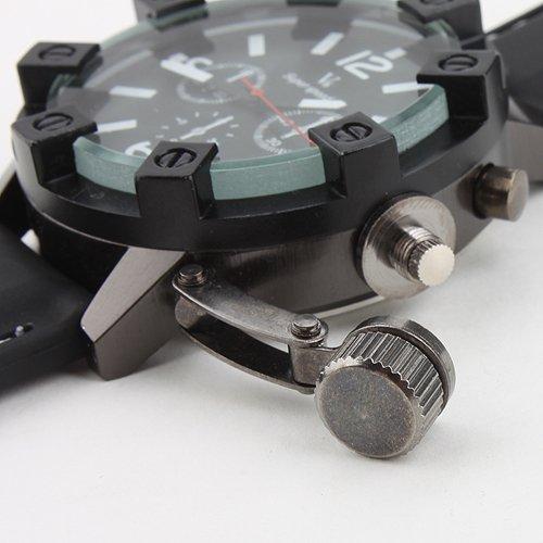 Моде мода V6 3D чехол роскошный черный часы мужской кварцевые аналоговые военный бизнес свободного покроя наручные часы Relogio Masculino подарок
