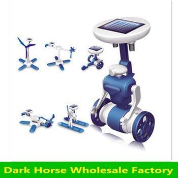 Free shipping hotsale solar robots DIY robots /educational toy Robot Kits 6 in 1 Solar robot