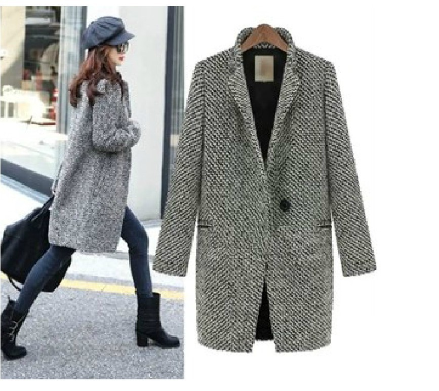 Wool Grey Coat - Coat Nj