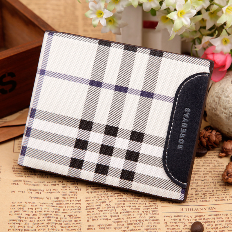 Hot sale Famous brand genuine leather men short Wallet classic fashion male patchwork purse with coin