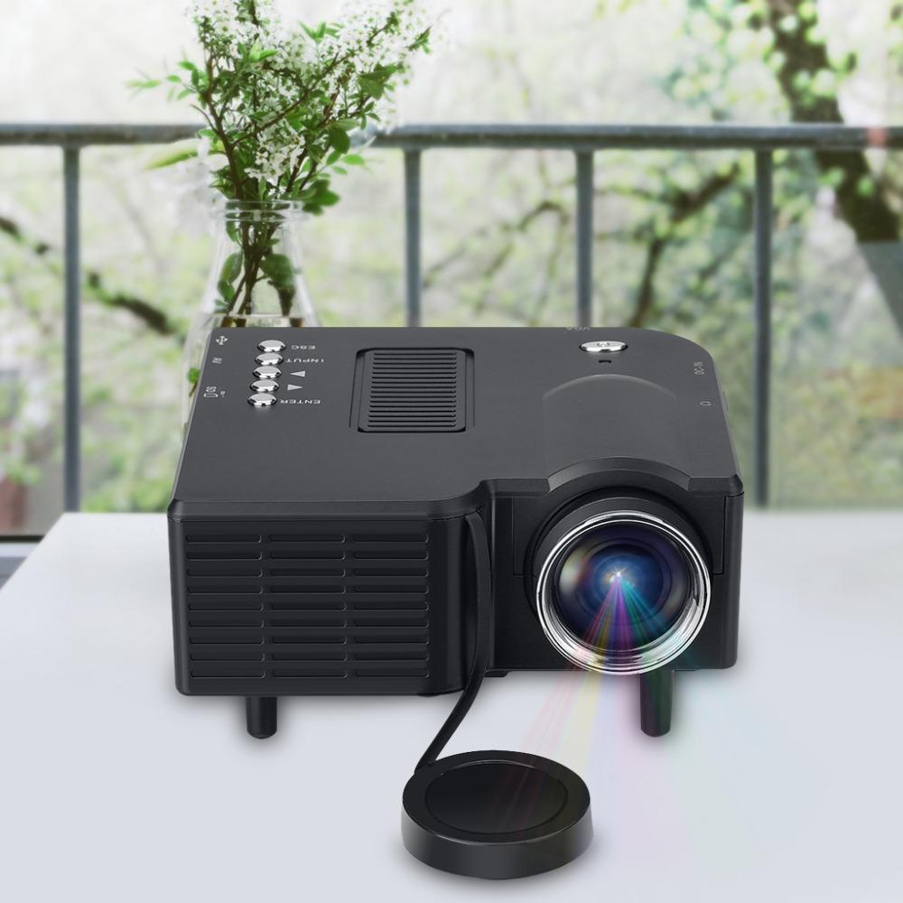Excelvan gm40 mini pico projector home cinema theater for Mini lcd projector