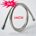 Big Promotion 2 45m Stainless Steel Shower Hose Chrome Bathroom Shower Pipe Free Shipping