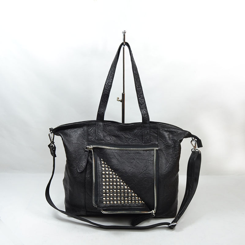 2015 New Women Fashion messenger bag Rivet Motorcycle Handbags Retrpo Doctor Shoulder Bag Real Genuine Leather