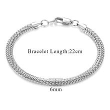 Wholesale Braslet Linked Jewelry Men's Bracelets Gold Color Chain Link Bracelets For Women Mens Gold Chain(China)