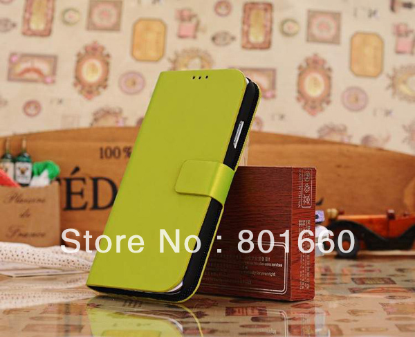 Wire Drawing PU Leather Flip Stand Cover Case For Samsung Galaxy S IV S4 I9500