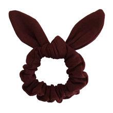 1 ADET Elastik Kumaş Tavşan Kulak Baskı Tavşan Kulak Saç Scrunchie Düğüm Yay saç bandı Saç kravat Yay Leopar At Kuyruğu Tutucu saç Halat(China)