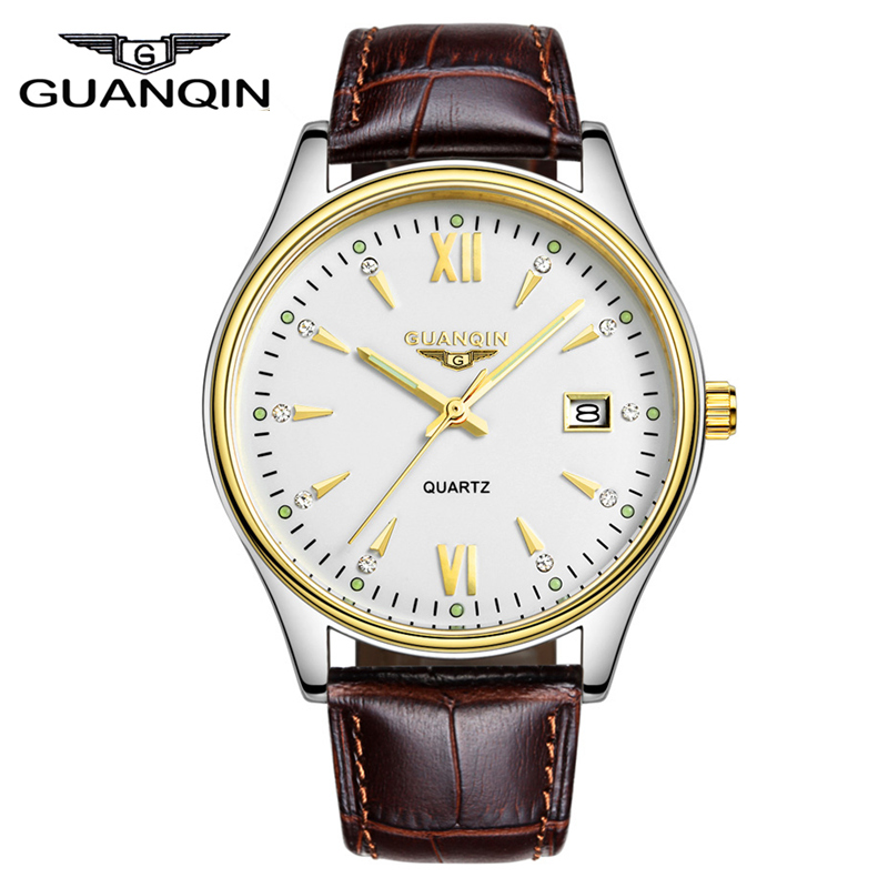 men watches 2015 GUANQIN brand Luxury Casual quartz watch men ultra-thin waterproof leather Wristwatches relogio masculino<br><br>Aliexpress
