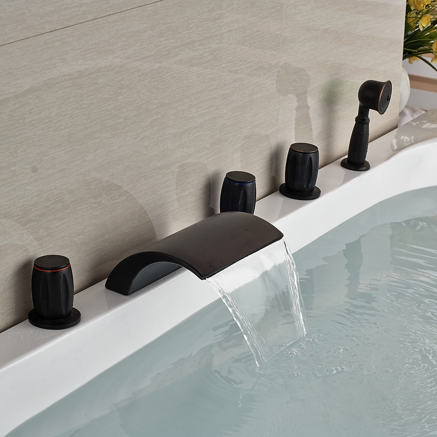 Wholesale and retail waterfall oil rubbed bronze waterfall Wholesale bathroom fixtures