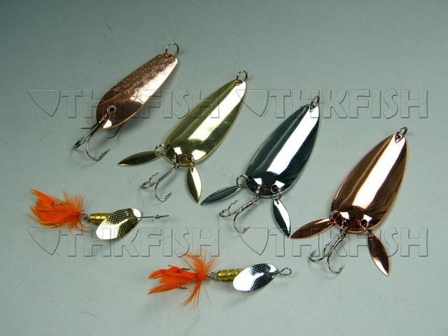 6X Mixed Style 20g 6g Daiwa Fishing Spinner Silver Bronze Fishing Lures Baits