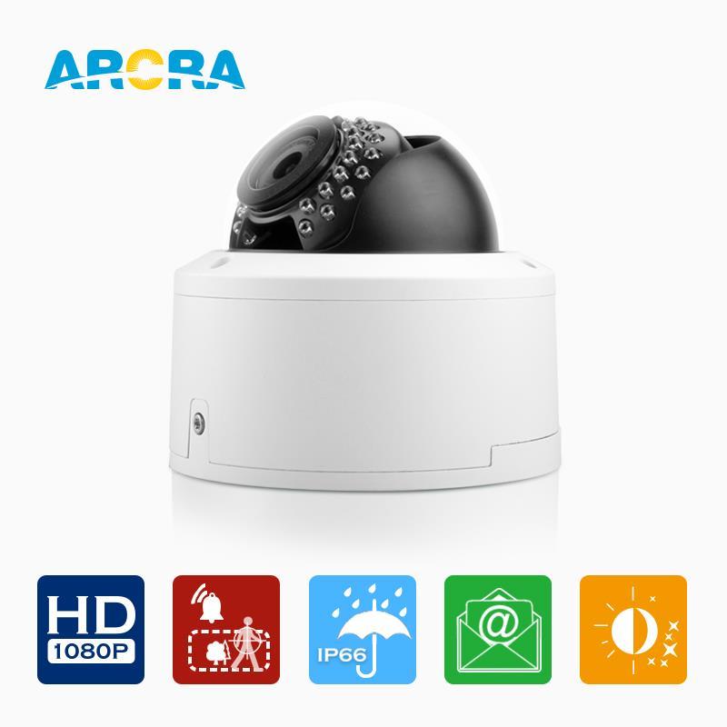ARCRA 2.0M Network IP Camera 1920*1080P 30pcs IR LED 30 mtrs night vision ip66 waterproof Onvif Motion detection CCTV Cameras(China (Mainland))
