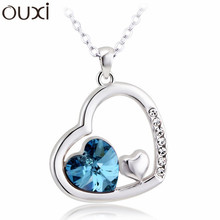Made With Verified Swarovski Elements NLA120 New 2014 Little Family Pendant Thick White Gold Plated Free Shipping