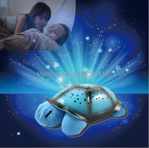 Turtle LED Night Light Musical Mini star sky Projector tortoise music Lamp Children Baby Girl Toys - Green Lake Electronics Co., Ltd. store