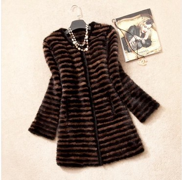 New Fashion Real Genuine Fur Natural Knitted Mink Coat For Women Outerwear Coats Jackets Winter Knitting Clothes Parka Plus SizeОдежда и ак�е��уары<br><br><br>Aliexpress