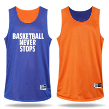 Boys Sided Wear Basketball Clothes Customizable Basketball Game Training Suit Set (Jerseys+Shorts)