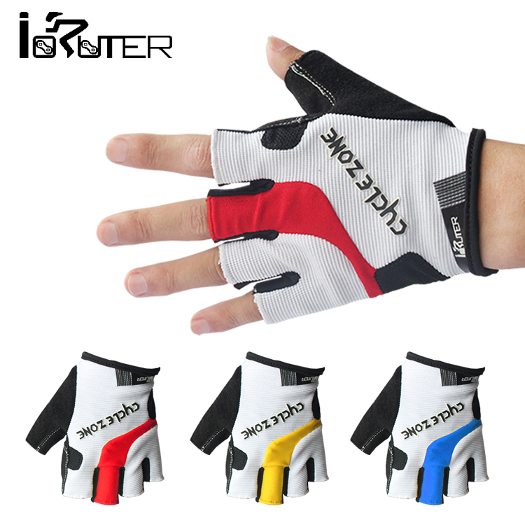 New Arrival Cycle Zone M-XXL Bicycle Gloves Half Finger Red Blue Yellow Cycling Gloves Brand New(China (Mainland))