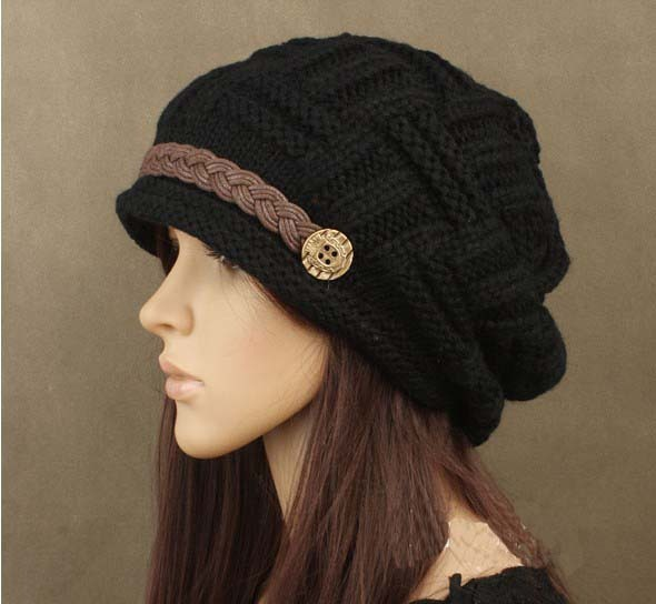 Free shipping,1pcs,woman knitting earmuffs hat, fashion winter pure manual warm cap, four color, Christmas gift.