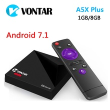 Buy Mini Android 7.1 VONTAR A5X Plus RK3328 Rockchip TV BOX 1GB 8GB 2.4G WIFI 100M LAN HD2.0 USB3.0 4K VP9 H.265 HDR10 Media Player for $34.99 in AliExpress store