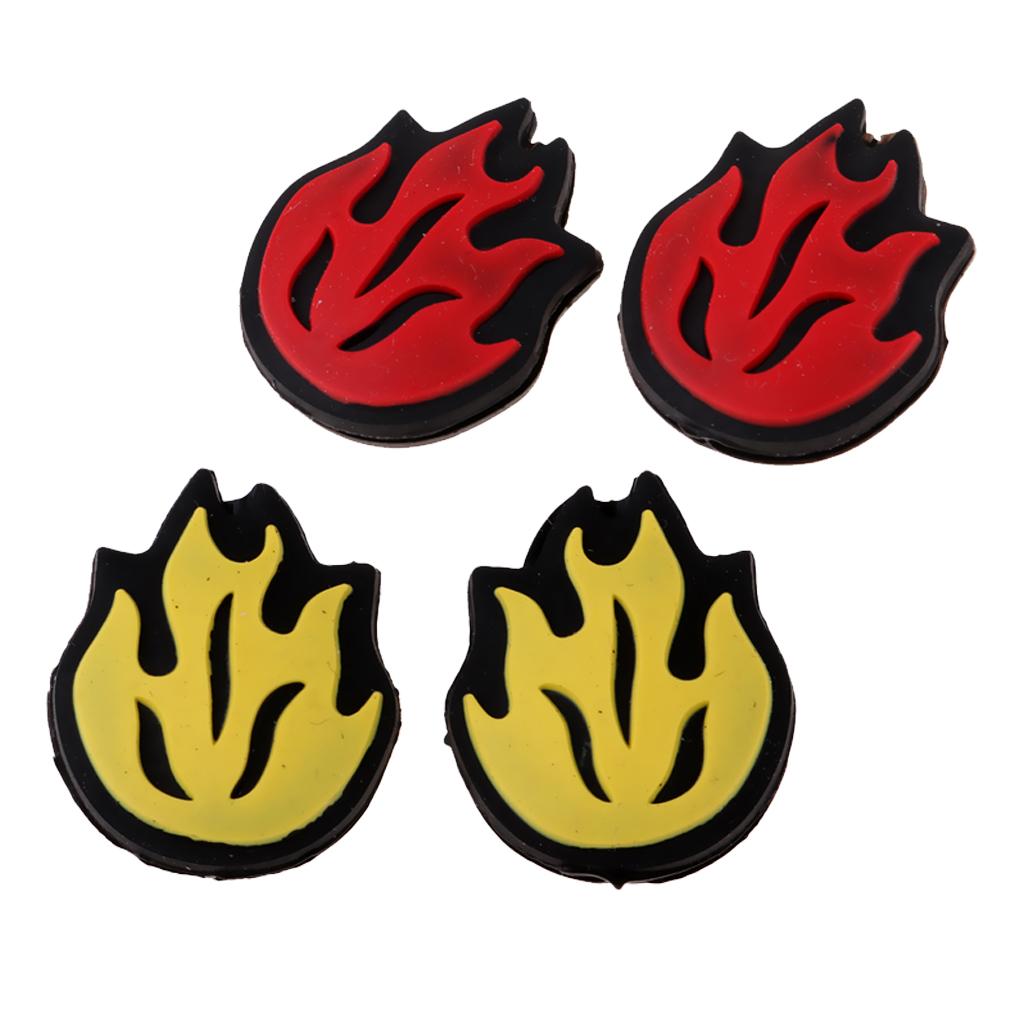 4 шт. силиконовый Теннисный амортизатор для ракетки вибрационные демпферы 4pcs Silicone Tennis Racket Shock Absorber Vibration Dampeners Training Aids Flame Decoration