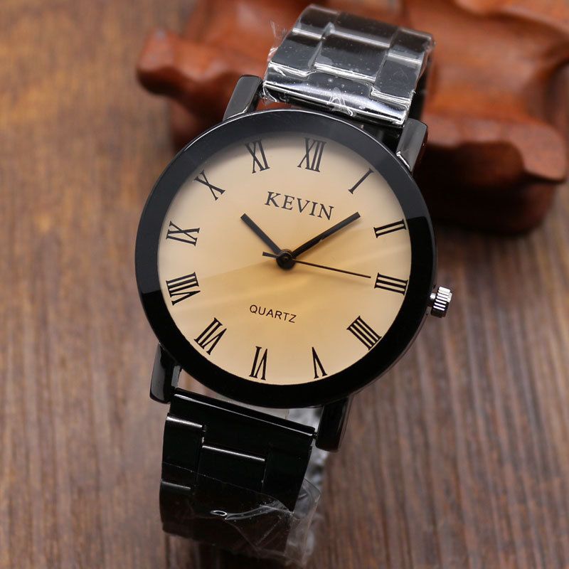 Fashion KEVIN Casual Watch Stainless Steel Men Fashion Watches Men Women Quartz Wristwatch Relogio Masculino W0908