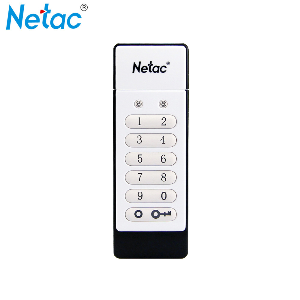 Netac U618 USB 2.0 Flash Drive Keypad Lock AES 256-bit Hardware Off-line Encryption Pen Drive Memory Stick 16GB 32GB(China (Mainland))
