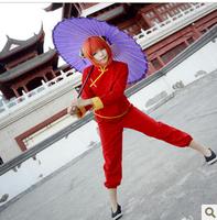 Anime Gintama Cosplay - Gintama Cosplay Silver Soul Kagura Kagura Women's Party Costume for Halloween Freeshipping
